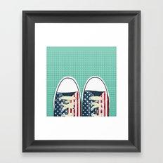 Casual American Framed Art Print