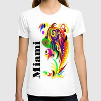 miami T-shirts featuring Miami  by Robleedesigns