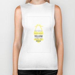 Yellow Polka Dot Bikini Biker Tank