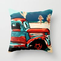 truck Throw Pillows featuring Truck  by Relic X