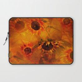 Autumn Playful Sunflowers Laptop Sleeve