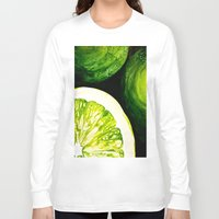 kiwi Long Sleeve T-shirts featuring Kiwi by EM SMITH