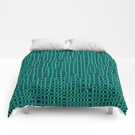 Turquoise Crosshatch Comforters