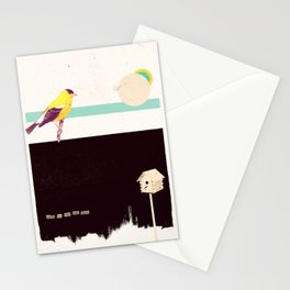 When the night falls quiet. Stationery Cards