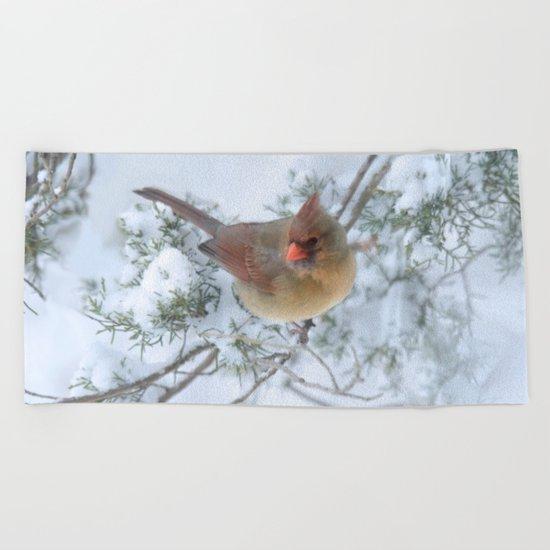 Drifting (Northern Cardinal) Beach Towel