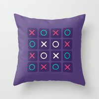 game Throw Pillows featuring Game by Sobhani