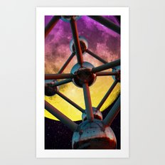 Atomium in space Art Print