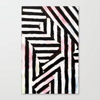 striped Canvas Prints featuring Striped by ST STUDIO