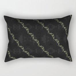 Gold Ribbon Rectangular Pillow