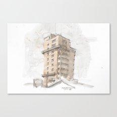 Tagblattturm Stuttgart - water colour Canvas Print