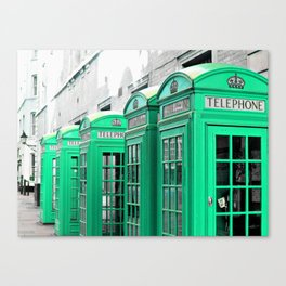 Reed Booths Turned Seafoam Canvas Print