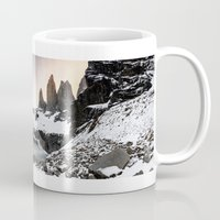 chile Mugs featuring Torres del Paine, Chile by klausbalzano