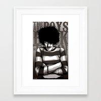phil jones Framed Art Prints featuring Phil Lynott by Denis O'Sullivan
