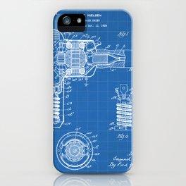 Hair Drier Patent - Salon Art - Blueprint iPhone Case