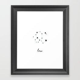 Leo - Lion Framed Art Print