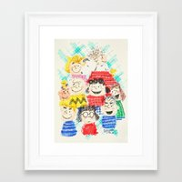 sesame street Framed Art Prints featuring Sesame Street by Cloakwork