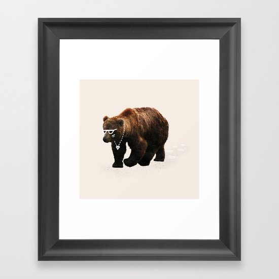 Kodiak Arrest Framed Art Print