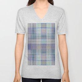 Scottish tartan pattern deconstructed Unisex V-Neck