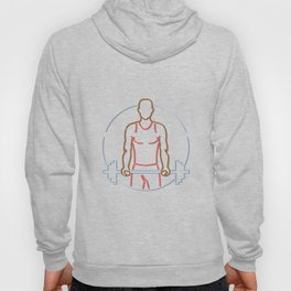 African American Athlete Lifting Barbell Neon Sign Hoody