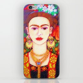 My other Frida Kahlo with butterflies iPhone Skin