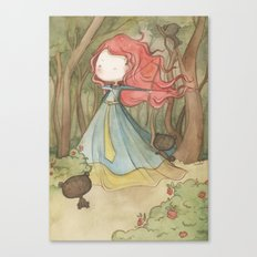 Merida in the forest Canvas Print