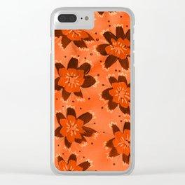 November Hill Rose Clear iPhone Case