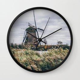 Kinderdijk Windmill | Netherlands Dutch Landscape Wall Clock