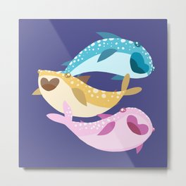 Whale Sharks Metal Print