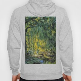 Weeping Willow by Claude Monet Hoody