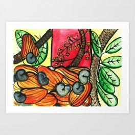 Cashew Apple Painting Art Print