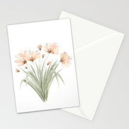 Watercolor Orange Lilies Stationery Cards