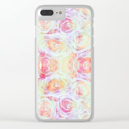 Pink Posy Clear iPhone Case