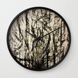 Lost in a Chaos Forest Wall Clock