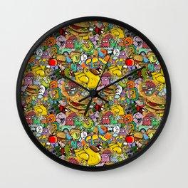 Graffiti seamless texture Wall Clock