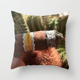 Cigar Lover Throw Pillow