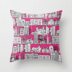 New York pink Throw Pillow