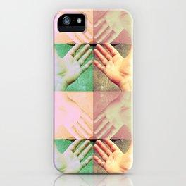 HAND FAN GRID iPhone Case