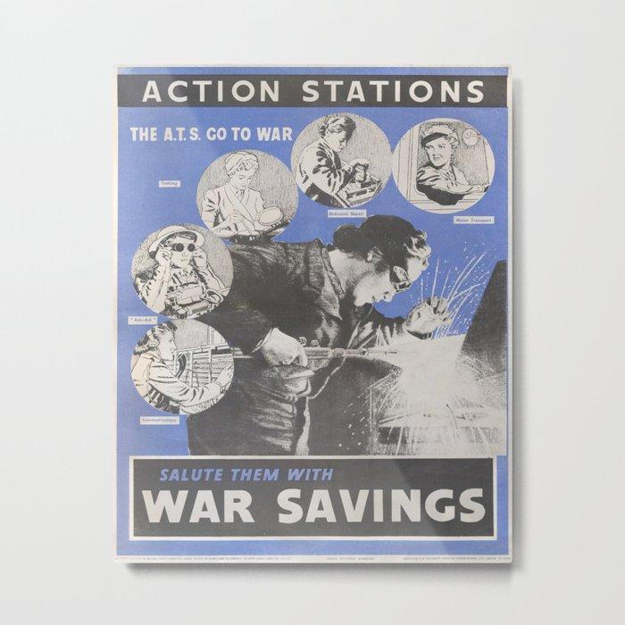 Reprint of British wartime poster. Metal Print