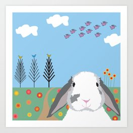 Jokke, The Rabbit Art Print