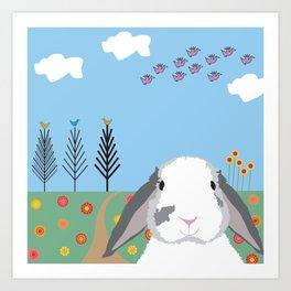 Jokke, The Rabbit Art Print