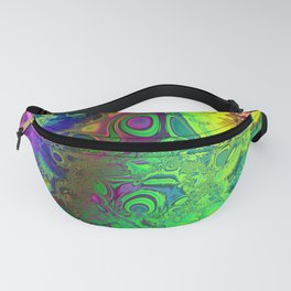 Color Explosion Psychedelic Abstract Art  Fanny Pack