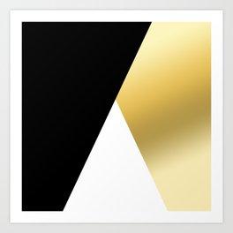 Elegant gold and black geometric design Art Print