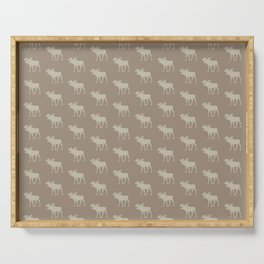 Beautiful Moose Pattern Serving Tray