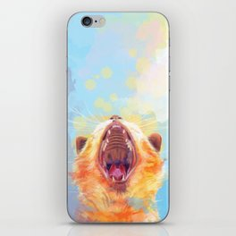 Rise and Shine, Kitty - colorful cat illustration iPhone Skin