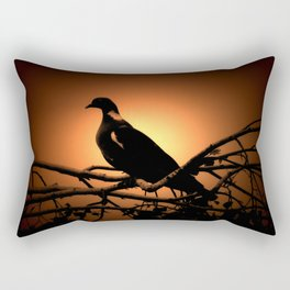 Dove in the shade Rectangular Pillow