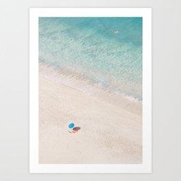 The Aqua Umbrella Art Print