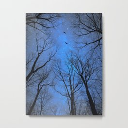 A Certain Darkness Is Needed (Night Trees Silhouette) Metal Print