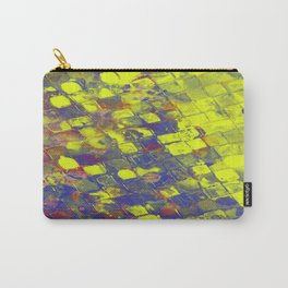 Take The First Step - Abstract, blue and yellow pattern Carry-All Pouch