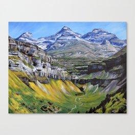 Lost Mountain Landscape Canvas Print