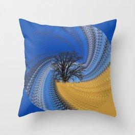Prairie oak swirl Throw Pillow